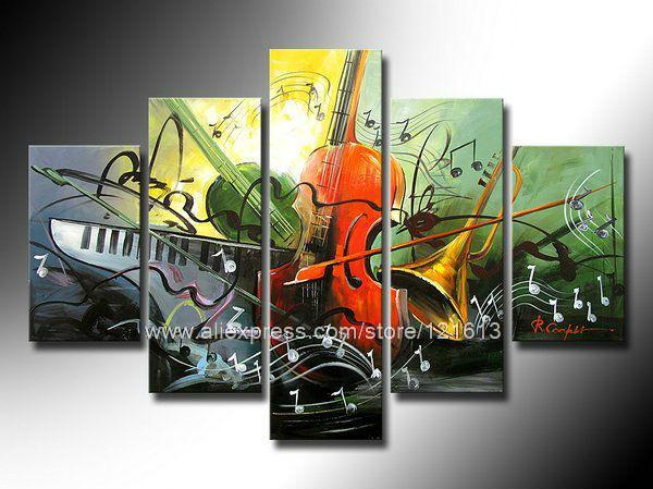 Panel Canvas Art Abstract Art Instrument Theme Home Decor Large High Quality Wall Art Abstract Art Paintings For Sale Huge C(China (Mainland))