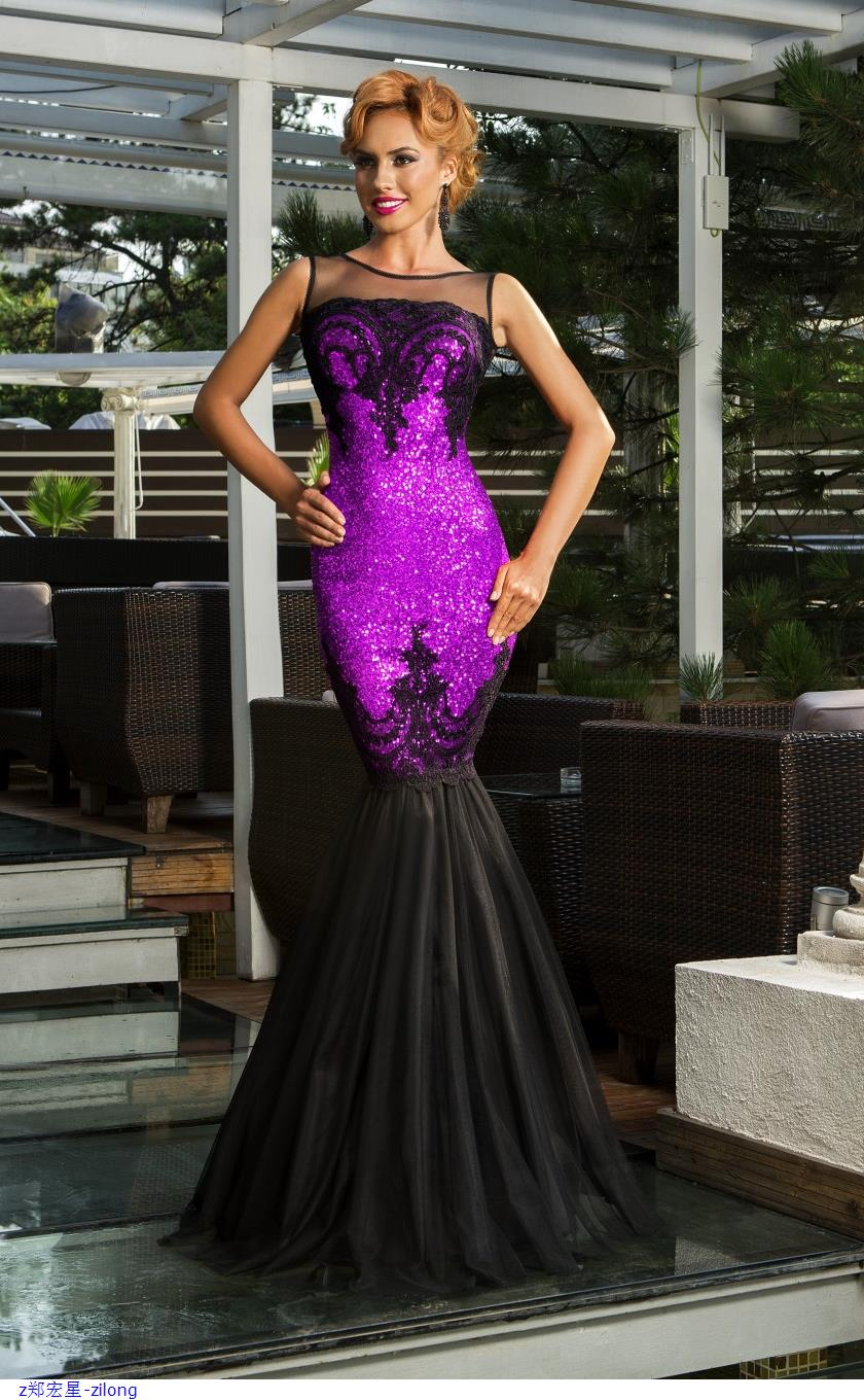 Dear Lover Silver Sequin Applique Evening Party Mermaid Dress sexy sleeveless backless Ankle-Length robe de soiree long LC60633
