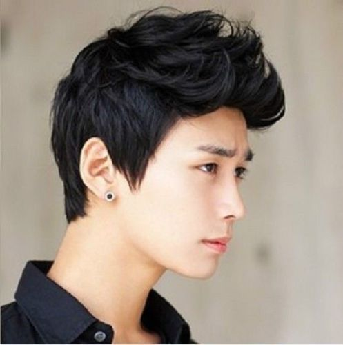 Handsome boys short new vogue sexy Korean men s male hair Cosplay Heat Resistant queen no