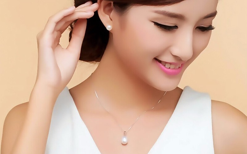pearl pendant necklace silver jewelry (60)