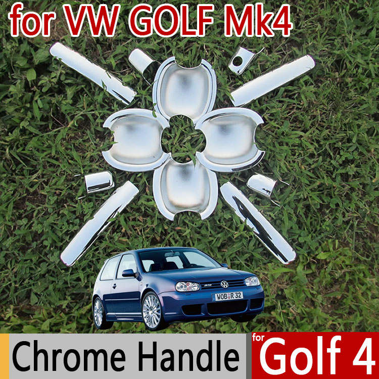 Hot Sale For VW Golf 4 Mk4 Chrome Exterior Door Handle Covers Chromium Styling Volkswagen Car Accessories Stickers Car Styling(China (Mainland))