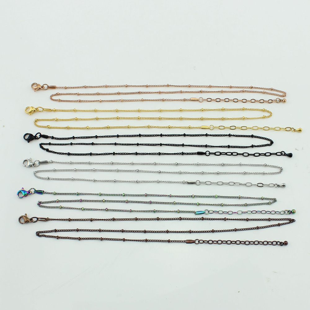 Wholesale 2015 newest mix colors stainless steel floating locket ball chain 50cm necklace chain 5pcs/lot<br><br>Aliexpress