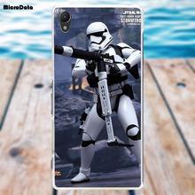 Microdati Un Sacco Di Stormtrooper di Star Wars Caso di TPU Coque Per Sony Xperia Z Z1 Z2 Z3 Z4 Z5 compatto Mini M2 M4 M5 T3 E3 XA(China)