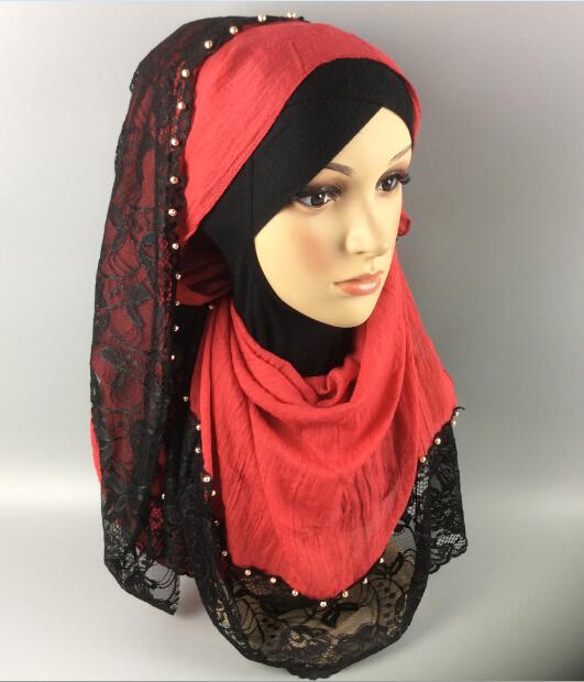 H57 Gold ball black lace hijab ,viscose shawl ,women scarf,180*90cm,10pcs 1lot ,can choose colors(China (Mainland))