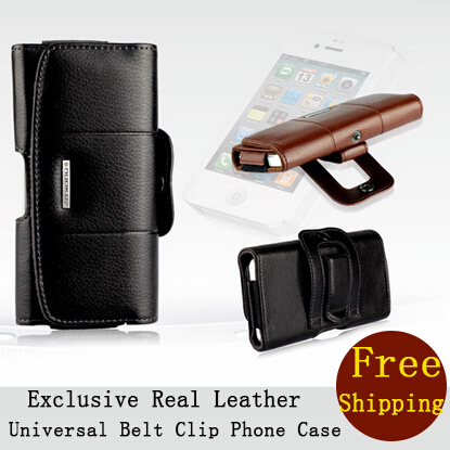 2015 Fashion Black Genuine Leather Belt Clip Cell Phone Cases Huawei 6 Plus Mobile Case Wallet Pouch Cover 5.5 inch - Sunny Globle Store store