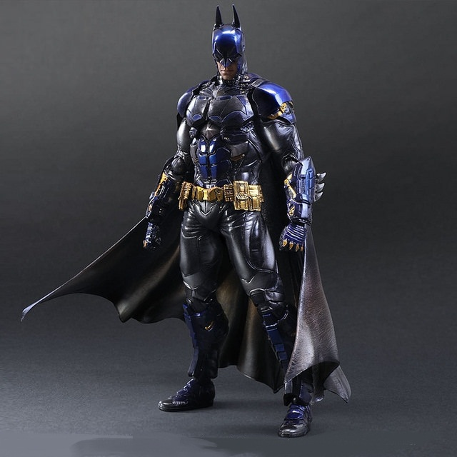 28cm Batman Arkham Knight Blue Limited Ver. Play Arts Kai PVC Action Figure Toys Collectors Model With Box Free Shipping(China (Mainland))