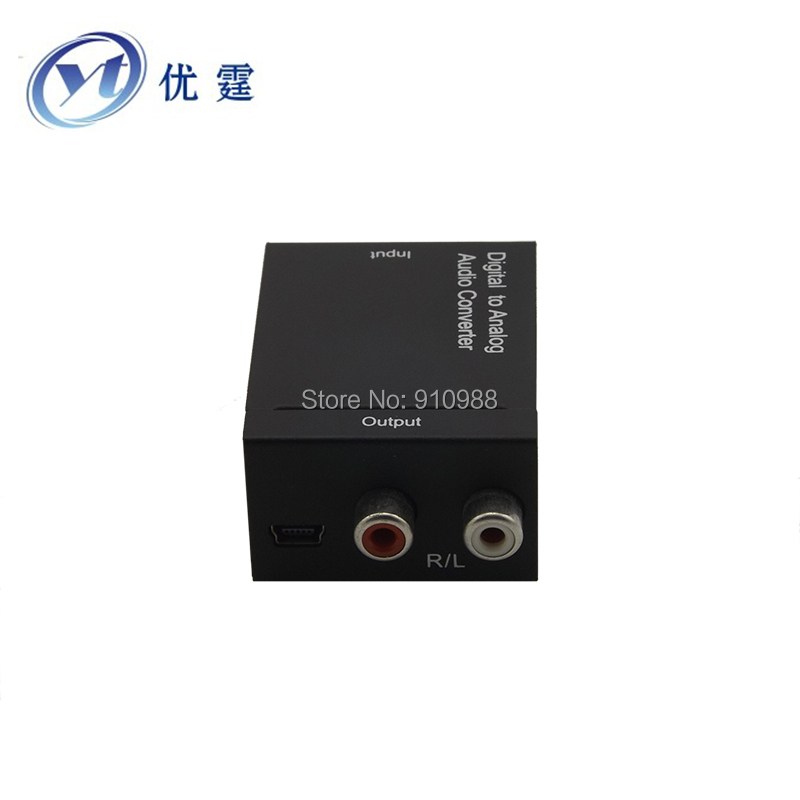 Free ship Digital to Analog Audio Converter Coaxial or Toslink digital signals to analog L/R audio 5.1 AC3 PS3 PS4 XBOX DTS(China (Mainland))