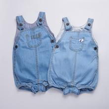 Детская одежда 2017 Летние девочки Боди джинсовой Бобо выбирает мальчики Детский Комбинезон без рукавов Новорожденных Комбинезоны для infantil одежда(China (Mainland))