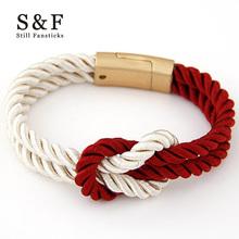 Buy NEW Magnet Bracelet Braided Nylon Rope Bracelet Fashion Man Strand Bracelets Women Handmade Bangle 2017 Men Jewelry Homme for $1.49 in AliExpress store