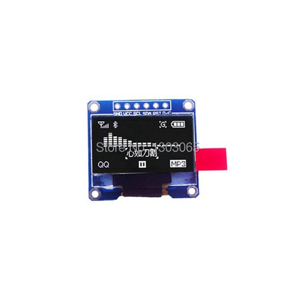 """2pcs/lot 0.96"""" OLED LCD 128*64 Display Module White Color for Arduino(China (Mainland))"""