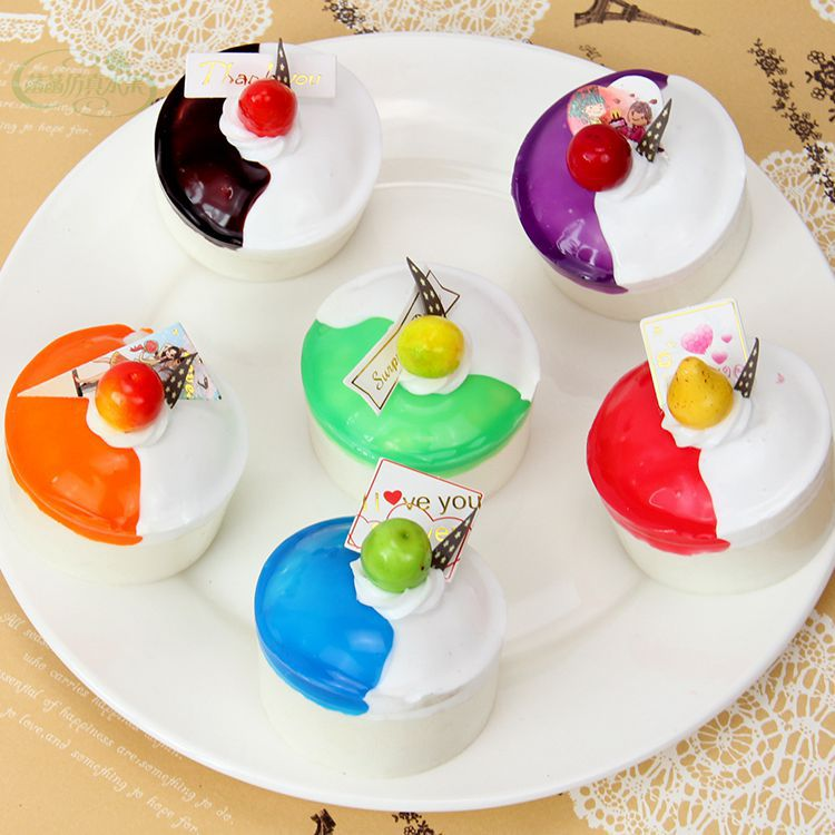 Artificial Two Tone Cake Model Set Resturant Decoration Children Teaching Props Artificial Cakes(China (Mainland))