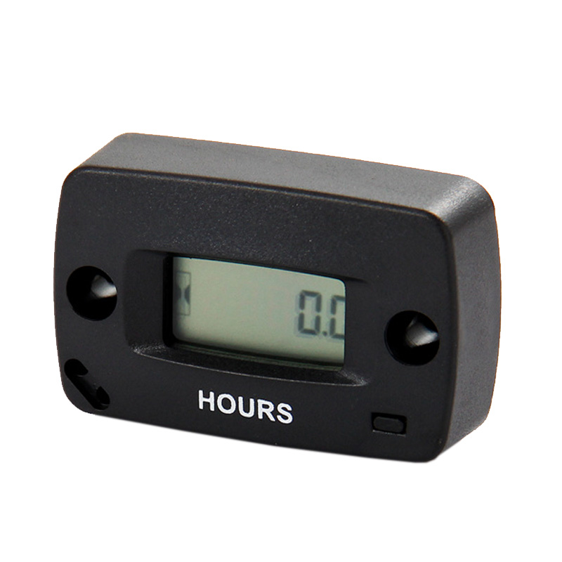 Free shipping waterproof LCD inductive Gas Engine Hour Meter for MX jet ski ATV chainsaw jet boat lawn mower motorbike pit bike(China (Mainland))