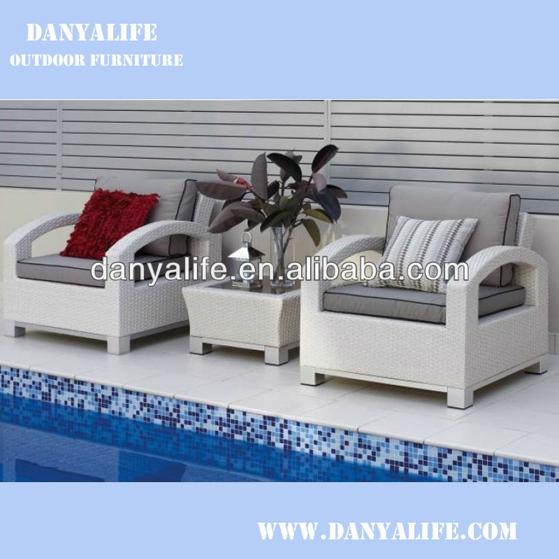 DYSF-D3203,Wicker Garden Patio Sofa Set,Rattan Outdoor Restaurant Sofa Chair with Tea/ Coffee Table,2 Seats Swimming Pool Sofa(China (Mainland))