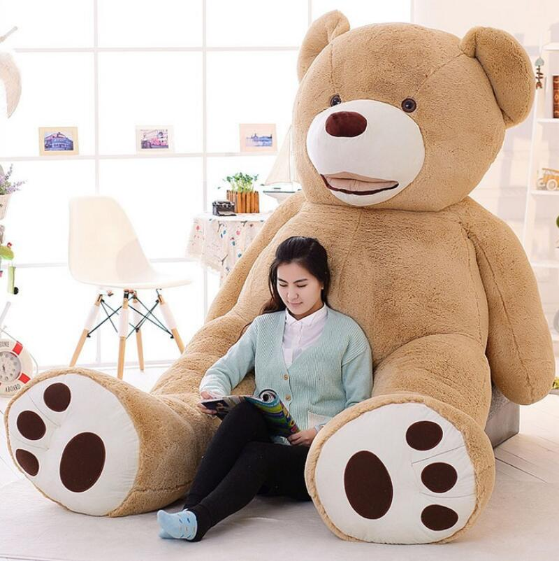 2016 New Kawaii 2.6m Huge Plush Animals Giant Teddy Bear Plush Soft Toys Kids Toys Stuffed Animals Huge Plush Bear Best Gifts(China (Mainland))