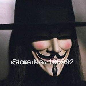 free shipping V Mask Vendetta party mask Halloween Mask Party Face Mask Halloween Mask Super Scary