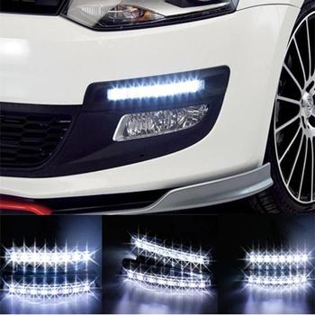 Free Shipping New Universal 2PCS DRL 8 LED Car Light Super White Daytime Running Light Auto Lamp #8110