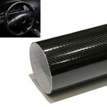 152*30cm Car Styling High Gloss 5D Black Carbon Fiber Vinyl Film Carbon Fibre Car Wrap Sheet Roll Film tools Car Sticker Decal(China (Mainland))