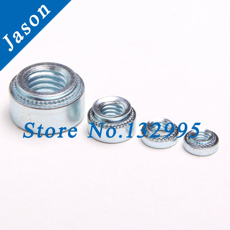 S-M10-1*100pcs  PEM Self-clinching nuts  Pressure riveting nut  carbon steel with white zinc plating<br><br>Aliexpress