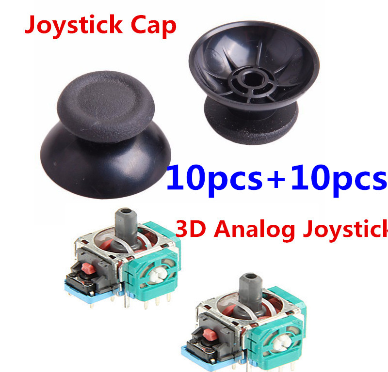 10 Sets 3D Controller Joystick Axis Analog Sensor Module Analog Joy stick Cap Cover Thumbstick Replacement For Playstation 4 PS4(China (Mainland))