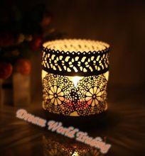 European Candlestick Iron Candlestick white glass furnishing articles Night Light Candle Lamp Candle Holder(China (Mainland))