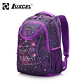 Luxcel two color fashion backpack casual women bag W printing schoolbag for girls teenage rucksack mochila