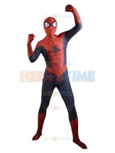 2015 New Ultimate Spider-Man costume 3D Shade Pattern halloween cosplay Spiderman Superhero Costume zentai suit free shipping