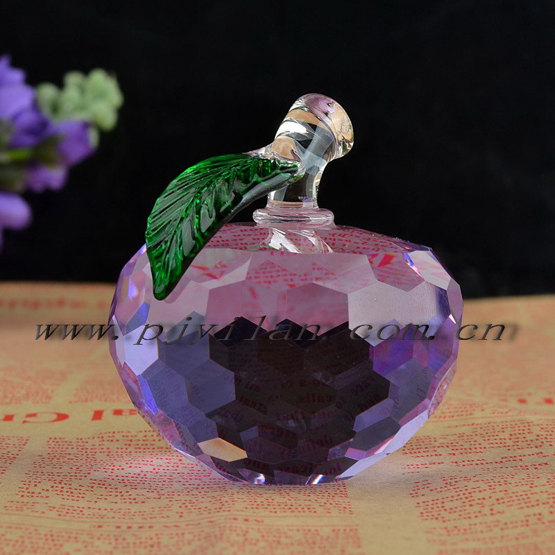 2015 hot sale colored fashion elegent purple faceted crystal white figurine(China (Mainland))