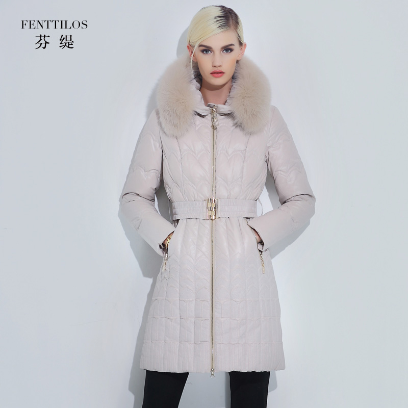 2015 new Hot winter Thick Warm Woman Down jacket Coat Parkas Outerwear Hooded fox Fur collar Luxury long plus size 2XXL SimpleОдежда и ак�е��уары<br><br><br>Aliexpress