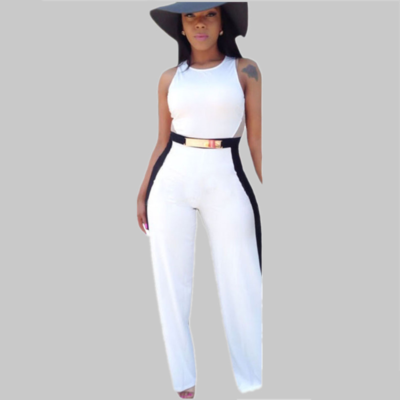 Ladies Black And White Jumpsuit | Fashion Ql