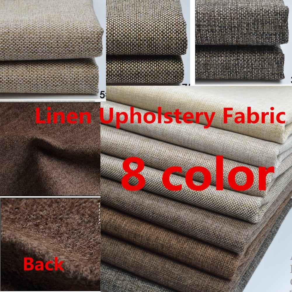 Thick plain linen fabric cloth diy craft cushion table - Sofas tapizados en tela ...