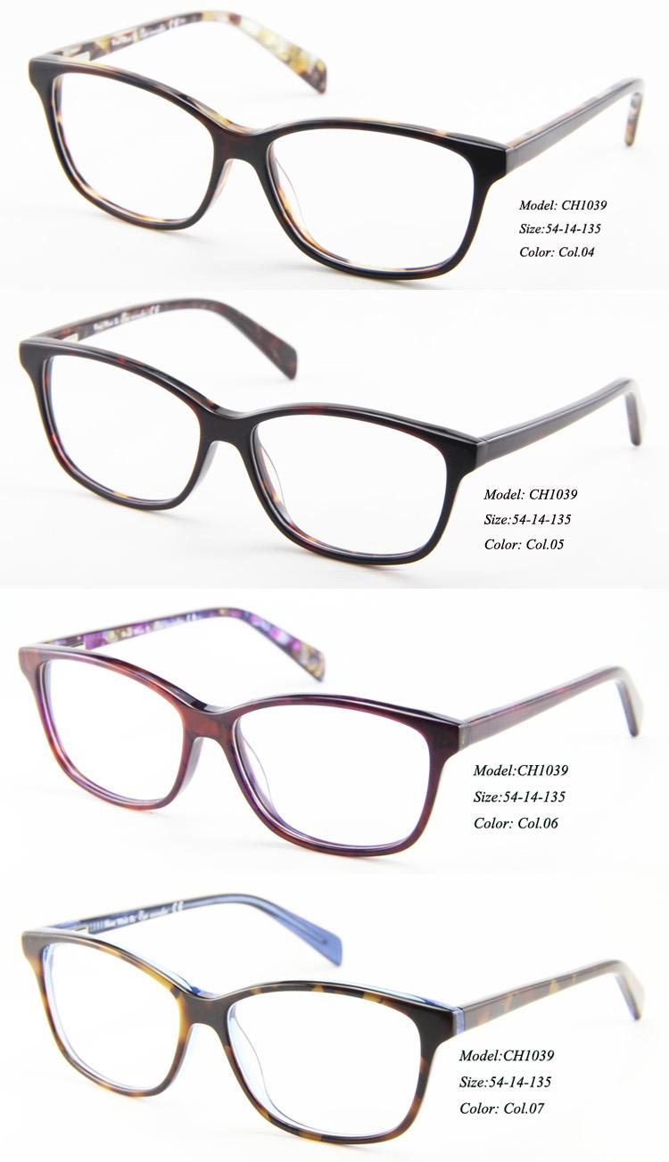 Eye wonder Wholesale High quality Women Fashion Acetate Designer Eyeglasses Frames Lunettes(China (Mainland))