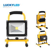 LUCKYLED portable rechargeable led flood light 10W 20W Waterproof IP65 camping lamp outdoor Spotlight Floodlight car charger(China (Mainland))