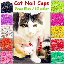 Buy free 20pcs/lot Cat nail Caps soft cat paw cat Claw XS,S,M,L free glue for $1.79 in AliExpress store