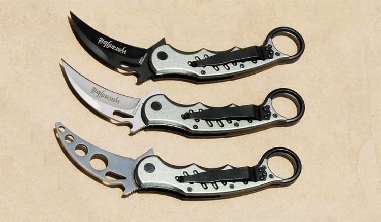 Buy Cool Fox Karambit Knife CS GO Never Fade Counter Strike Fighting Survival Tactical Knife Claw Camping knives cheap