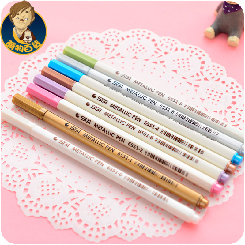 Gold Paint Pen Paint Pen 6pcs/sets(china