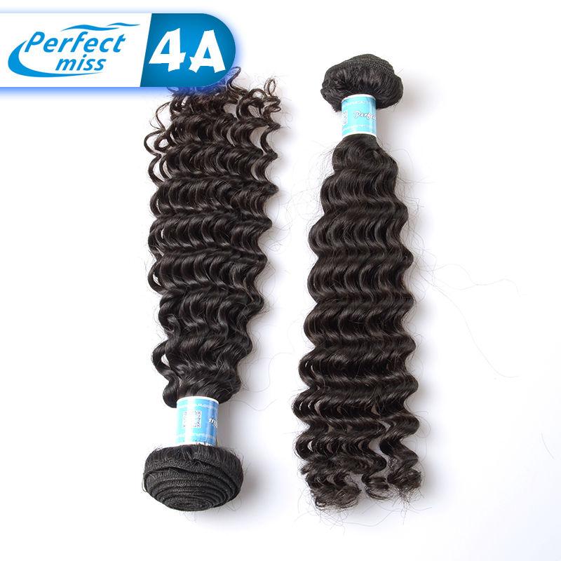 Tissage Naturel Brazilian Deep Wave Human Hair Brazilian Virgin Hair Extension Hair Bundle Deals Remy Style Short Fine Deep Wave(China (Mainland))