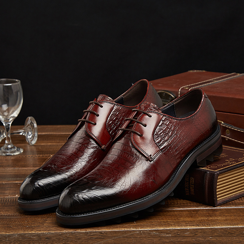 Chaussures Homme Crocodile Cuir en Cuir Hommes Chaussures