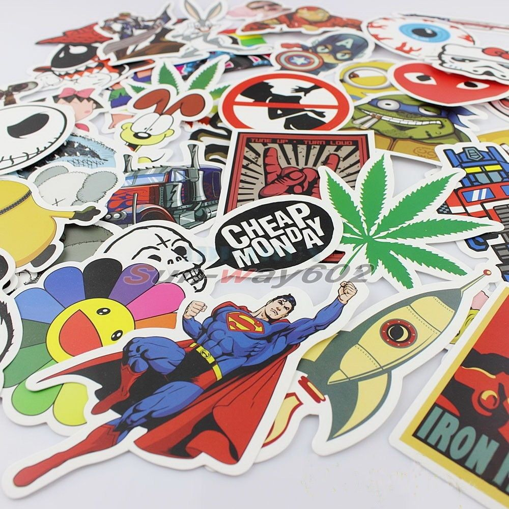 HOT!Funny stickers for car sticker and decal bicycle laptop on car styling random PVC sticker bomb doodle motorcycle accessories<br><br>Aliexpress