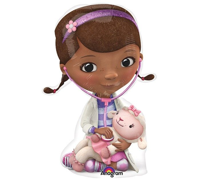 5pcs/lot Anagram Mini Shape Doc McStuffins Foil Balloons Cartoon Doctor Girl Toy Balloon Birthday Party Decoration Gift Globos.(China (Mainland))