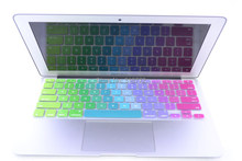 Rainbow Silicone keyboard cover for Apple macbook Air Pro Retina 13 15 17 Protective Stickers for mac book laptop Skin Film US