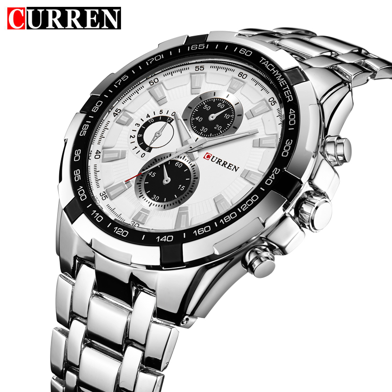 Original Curren New Arrivals Hot Selling Famous Brand Men Analog Fashion Quartz-Watch Exquisite Water Resistant Wristwatches(China (Mainland))