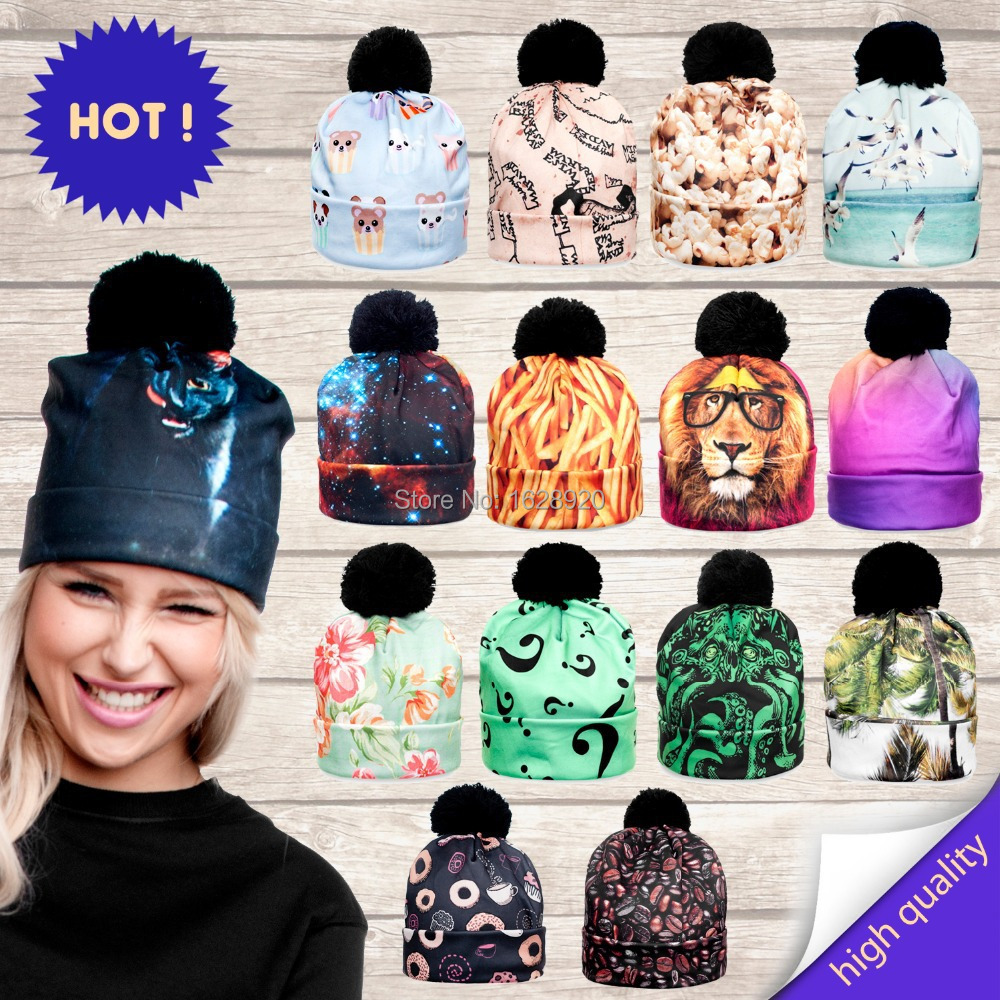 Гаджет  beanie print 3d kitten cat galaxy nebula mystery muffin space map hat None Одежда и аксессуары
