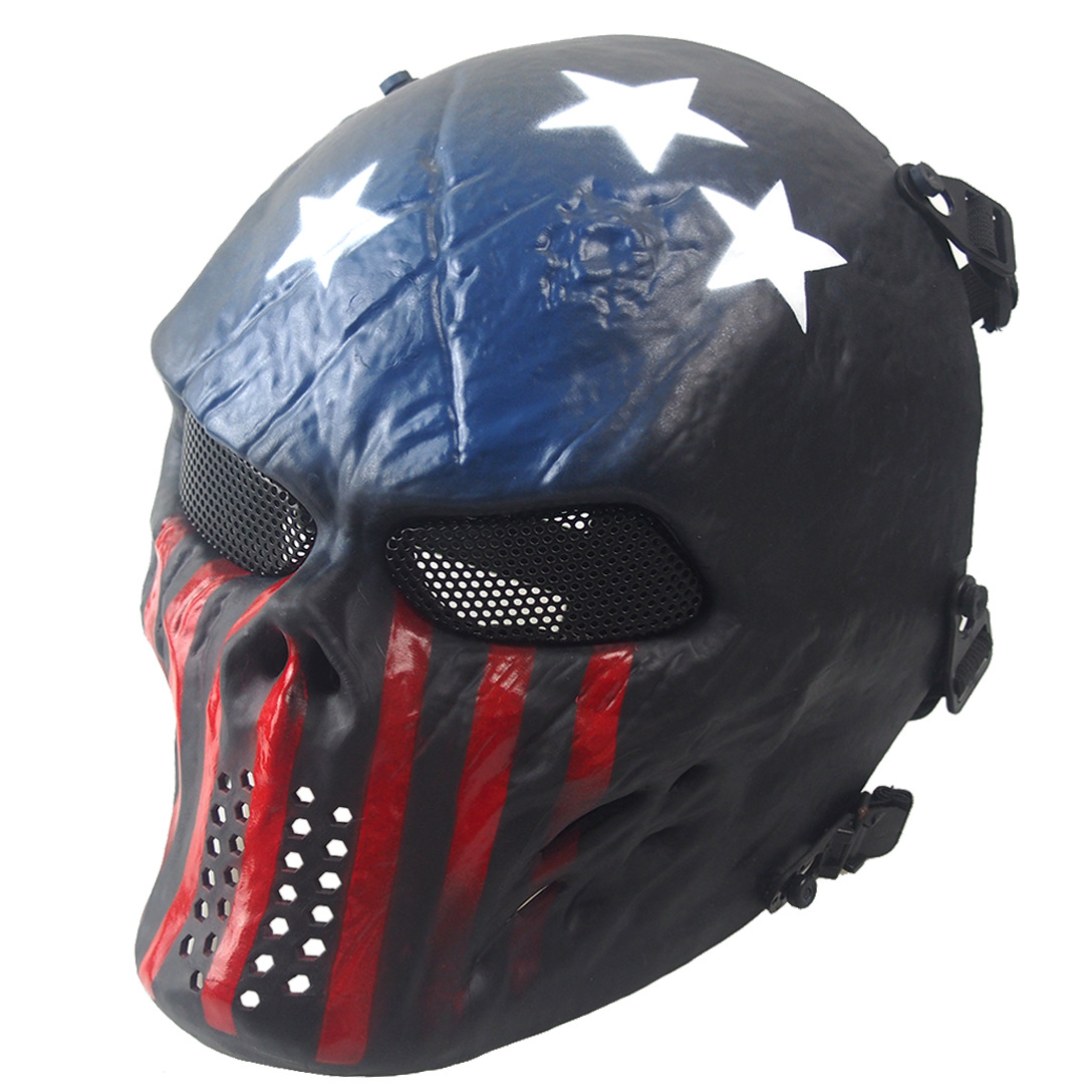 Ghost Camouflage Tactical Skull Mask Zombie Outdoor Warrior Masks Metal Mesh Goggles Full Face CS Mask