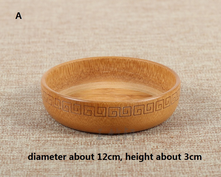 Natural Bamboo Container Bowl Tea Dessert Dried Fruit Plate Gift Hotel(China (Mainland))