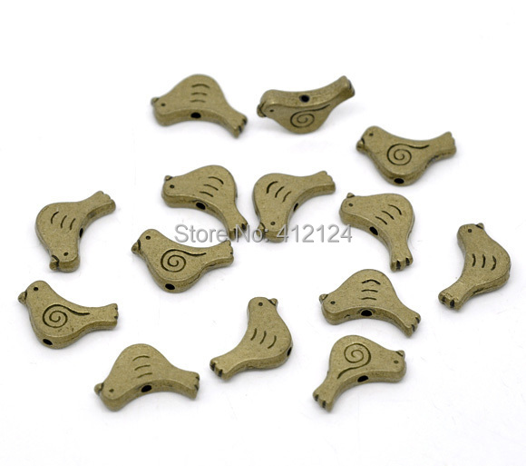 1250 Free Shipping Wholesales Hot New DIY Bronze Tone Bird Spacer Beads Charms Jewelry Making Findings Component 15x12mm<br><br>Aliexpress