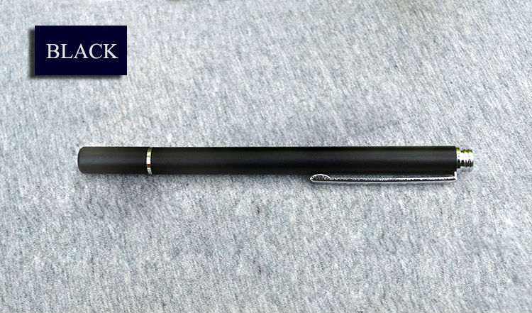 JXH-YP007 solid color round plate stylus pen -BLACK