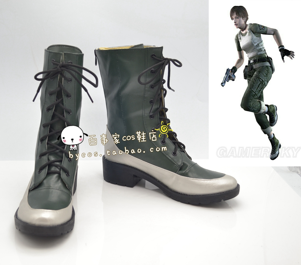 Resident Evil Cosplay Shoes Anime Boots High Quality Tailor Made(China (Mainland))