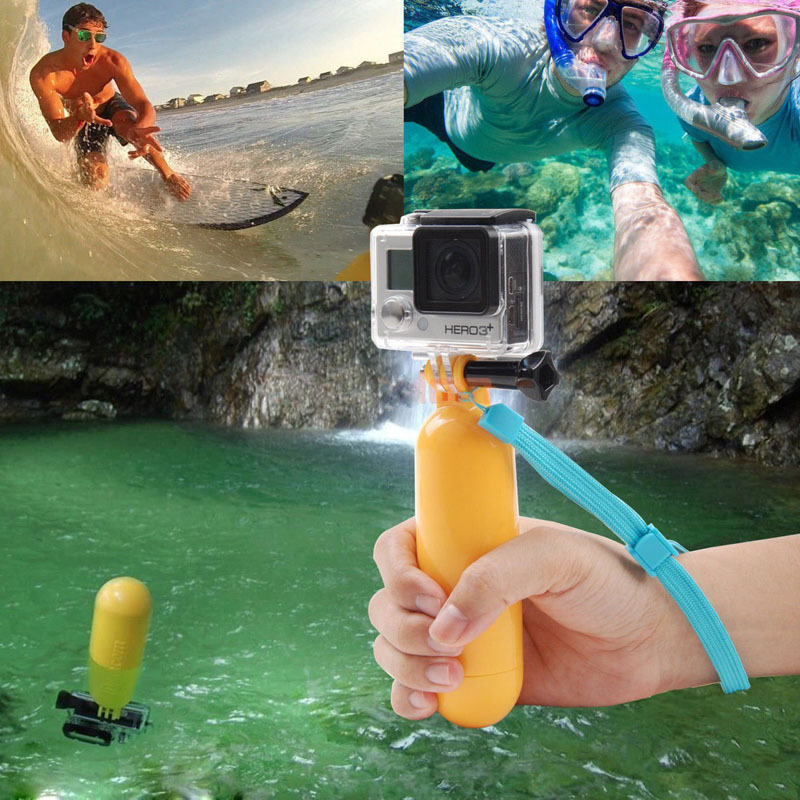 2015 New Arrival Yellow Water Floating Hand Grip Handle Mount Float Accessory for Gopro Hero 4/3+/3/2/1 Wholesale Price(China (Mainland))