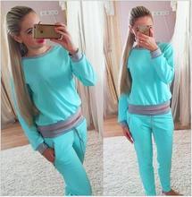Spring Woman Sweatshirt Clothes Sets 2016 Jogging Suits For Women Tracksuits Set Women Sport Suit Set Jogging Casual Long Pants(China (Mainland))