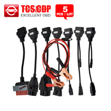 5PCS/Lot high quality OBDII car cables full set 8 for TCS pro MVD Multidiag pro auto scanner DHL free(China (Mainland))